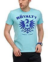 Yepme Men's Blue Graphic T-shirt -YPMTEES0235_XL