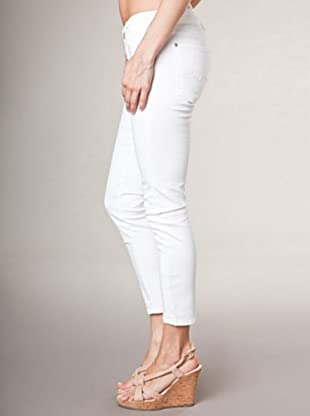 7 for all Mankind 5-Pocket Roxanne Flood Alyssum Skinny Fit (Weiß)