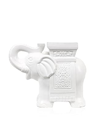 Urban Trends Collection Ceramic Elephant (White)