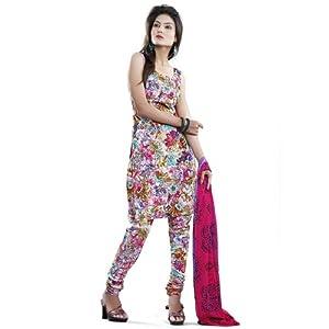 Multicolored Flower Printed Cotton Salwar Kameez :d7285/s6