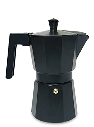 Supreminox Cafetera de aluminio teflón negro 12 tazas
