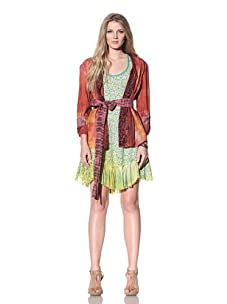 Gregory Parkinson Women's Silk Applique Jacket (Sunset Petal)