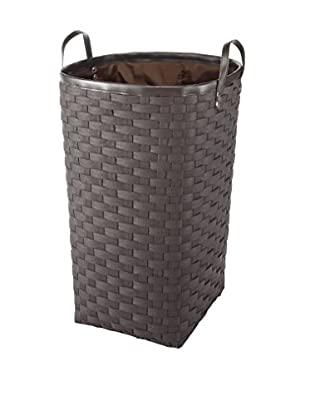 Whitmor Woven Fabric Hamper with Sewn In Liner, Brown