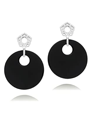 Nahla Jewels Ohrring Sterling Silber Onyx