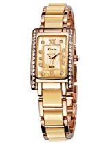 Kimio Analog Gold Dial Women's Watch - KW510S-RGPL10