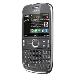 Nokia Asha 302 Smartphone-Dark Grey