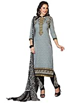 Kvsfab Gray Pure Cotton Salwar Kameez