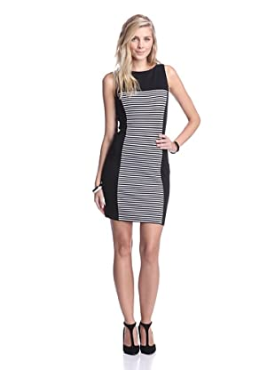 Tart Collections Women's Anaheim Dress (Black/White Stripe)