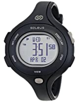 Soleus Women's SR009001 Chicked Grey Digtial Dial with Black Polyurethane Strap Watch