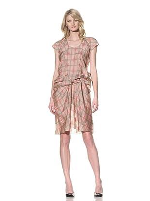 MARNI Women's Draped Short Sleeve Dress (Tan Pink)