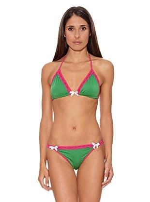 Intimax Bikini Lazos (Verde / Rosa)