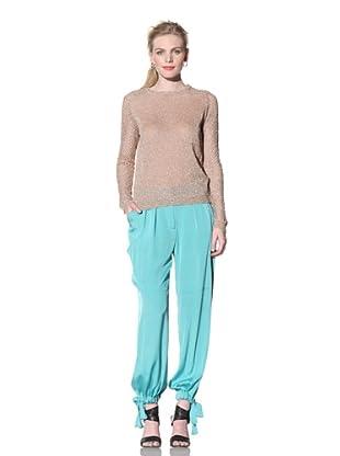 House of Holland Women's Long Sleeve Crewneck Sweater (Peach)