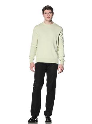 Cruciani Men's Crew Neck Knit Sweater (Lemon)