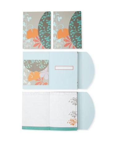 Mudlark Set of 4 Journals, Light Blue/Multi