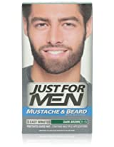 Just for Men Mustache and Beard Color, Dark Brown (Pack of 3)