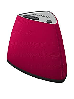 Sharper Image Vela Wireless Bluetooth Mini Speaker with Built-In MIC (Red)