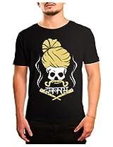 Bushirt Men's Round Neck Cotton T-Shirt (DN00130 - Jhakkas_Black_XX-Large)