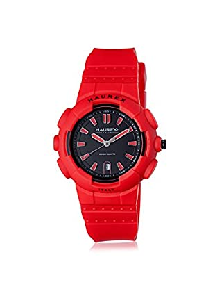 Haurex Men's 2P504URR Tremor Red/Black Rubber Watch