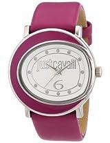Just Cavalli Women's R7251186503 Lac Stainless Steel Hot Pink Genuine Leather Swarovski Crystal Watch