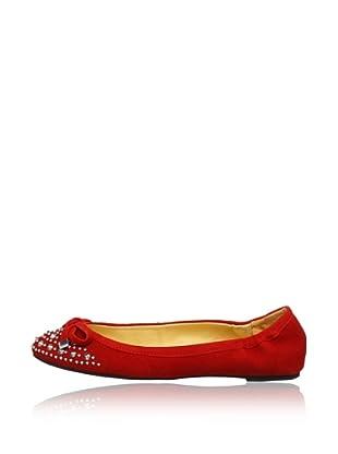 Buffalo London 211-9062 KID SUEDE 141507 - Bailarinas de cuero  mujer (Rojo)