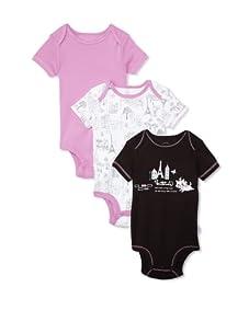 """Disney Marie """"Paris"""" Cuddly Bodysuit 3-Pack (Black/Lilac)"""