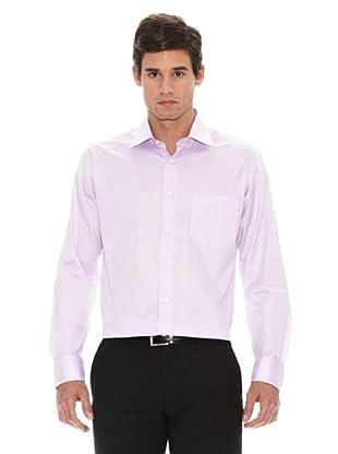 Turrau Camisa Vestir Microdibujo (Lila)