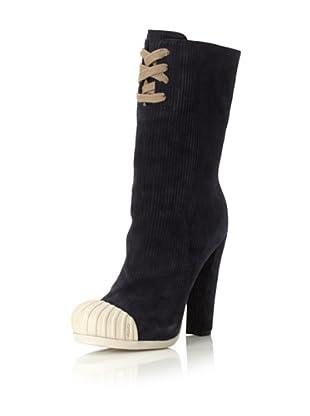 Fendi Women's Cap-Toe Boot (Blue Marlin/Latte)