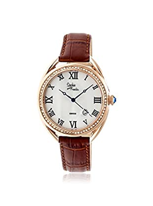 Sophie and Freda Women's SF2905 Austin Brown/White Leather Watch