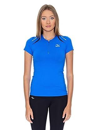 Naffta Camiseta Running (Azul Francia / Negro)