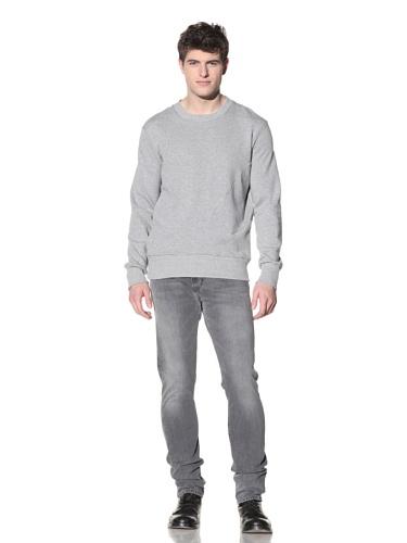 SPURR Men's Heathered Crewneck Sweater (Grey)