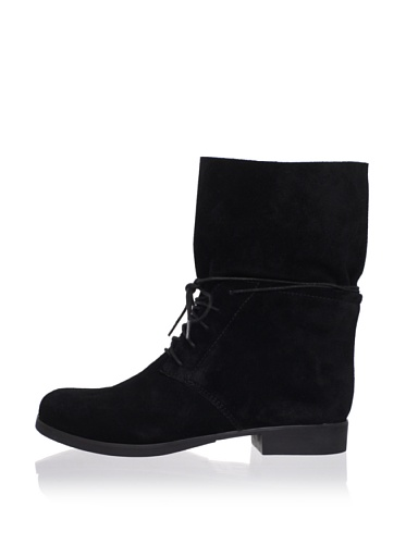 Rosegold Women's Odelia Lace-Up Ankle Boot (Black)