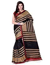 Cenizas Cotton Silk Saree (3301 Black)