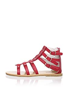 L'Amour Shoes Kid's Gladiator Sandal (Red)