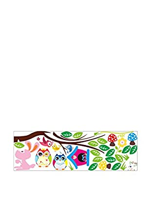 Ambiance Sticker Wandtattoo Owls And Bird Cage On Tree