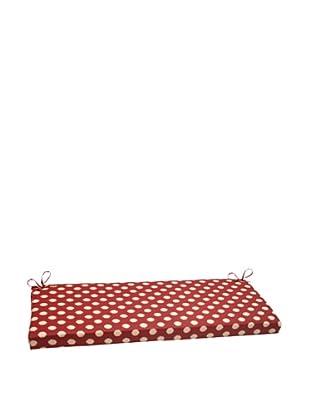 Waverly Sun-n-Shade Solar Spot Henna Bench Cushion (Red/Tan)