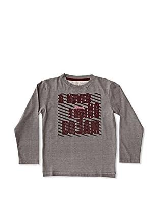 New Caro Camiseta Manga Larga Letters Niño (Gris)