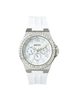 Breda Women's 9305 Ashley Rhinestone Sport White Watch