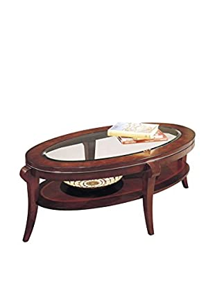 Bassett Mirror Company Ashland Heights Oval Cocktail Table, Cherry