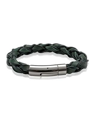 Van Maar Armband Echtleder, dunkelgrün