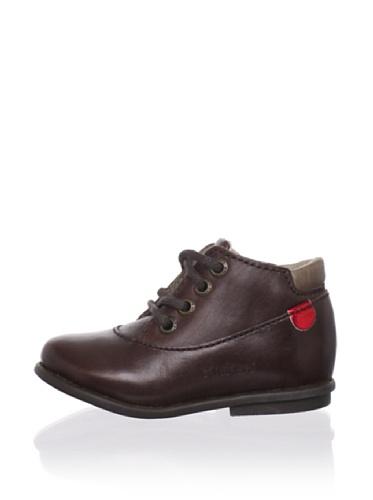 Kickers Kid's Swatch Ankle Boot (Toddler) (Dark Brown)