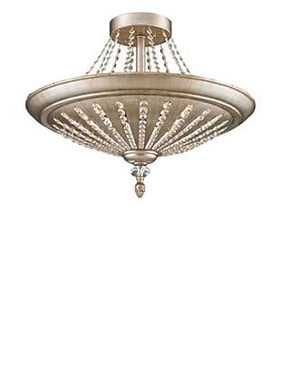 Artistic Lighting 9-Light Semi-Flush, Aged Silver