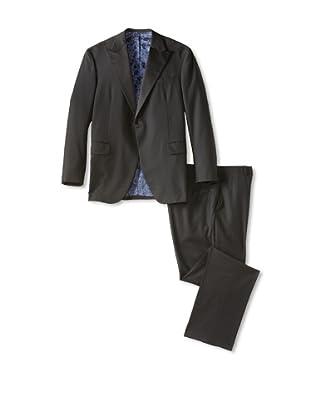 Oxxford Men's Peak Lapel Tuxedo (Black)