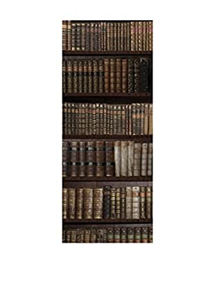 Ambiance Sticker Wandtattoo Door Bookshelf With Old Literary And Science Books
