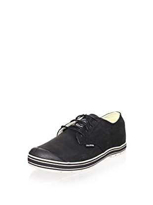 Palladium Men's Slim Oxford Leather Sneaker (Black/Moon Rock)