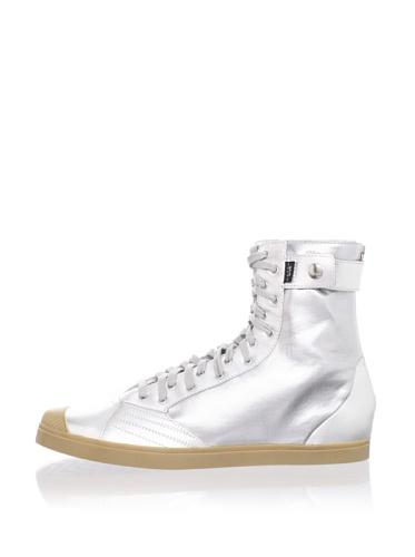 adidas SLVR Women's SLVR Fashion Mid II Sneaker (Metallic Silver)