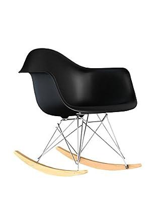 Macer Home Eiffel Rocking Arm Chair, Black
