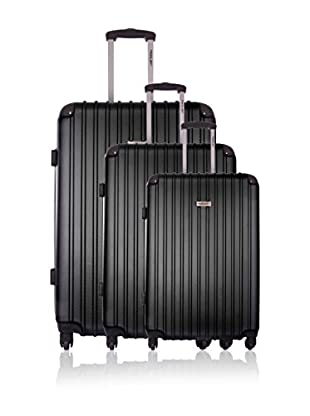 Travel ONE Set de 3 trolleys rígidos Aligara Negro