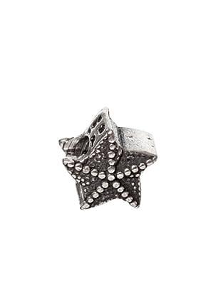 Bacio Abalorio de Plata de Ley 925  Estrella De Mar Rosca