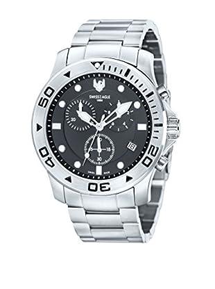 Swiss Eagle Uhr mit Schweizer Quarzuhrwerk Sea Bridge silberfarben 46 mm