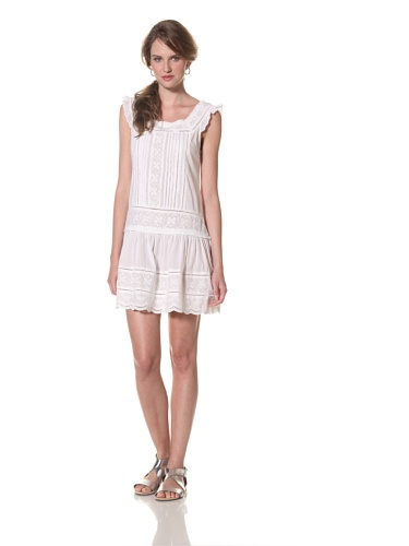 COLLETTE BY COLLETTE DINNIGAN Women's Embroidered Short Dress (White)